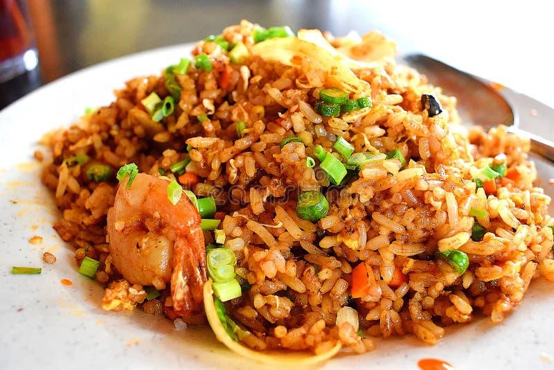 Marisco Fried Rice Asian Cuisine imagem de stock