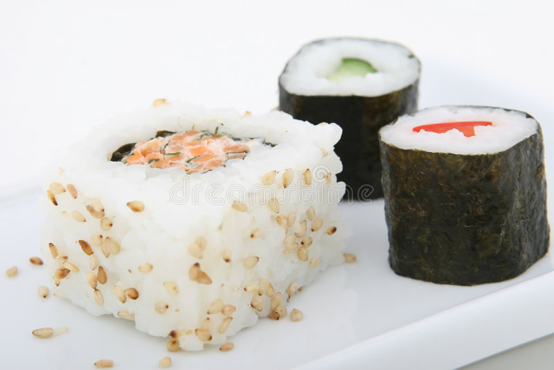 Marisco japonês do sushi imagem de stock