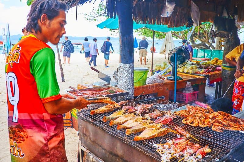 Marisco saboroso na ilha de Khai Nok, Phuket, Tail?ndia fotografia de stock royalty free