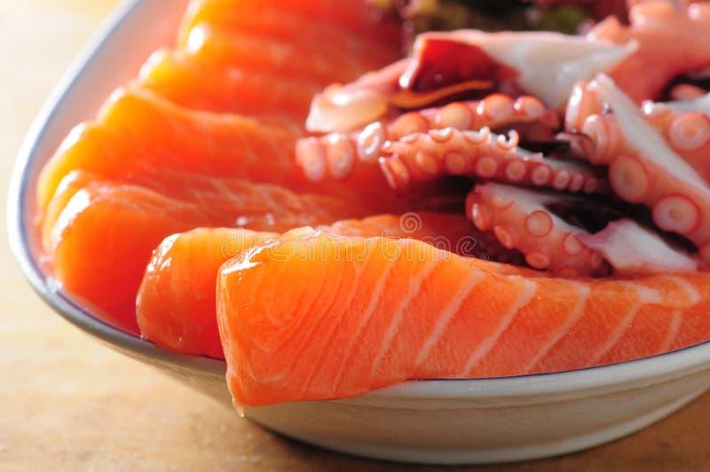 Salmones del Sashimi imagen de archivo