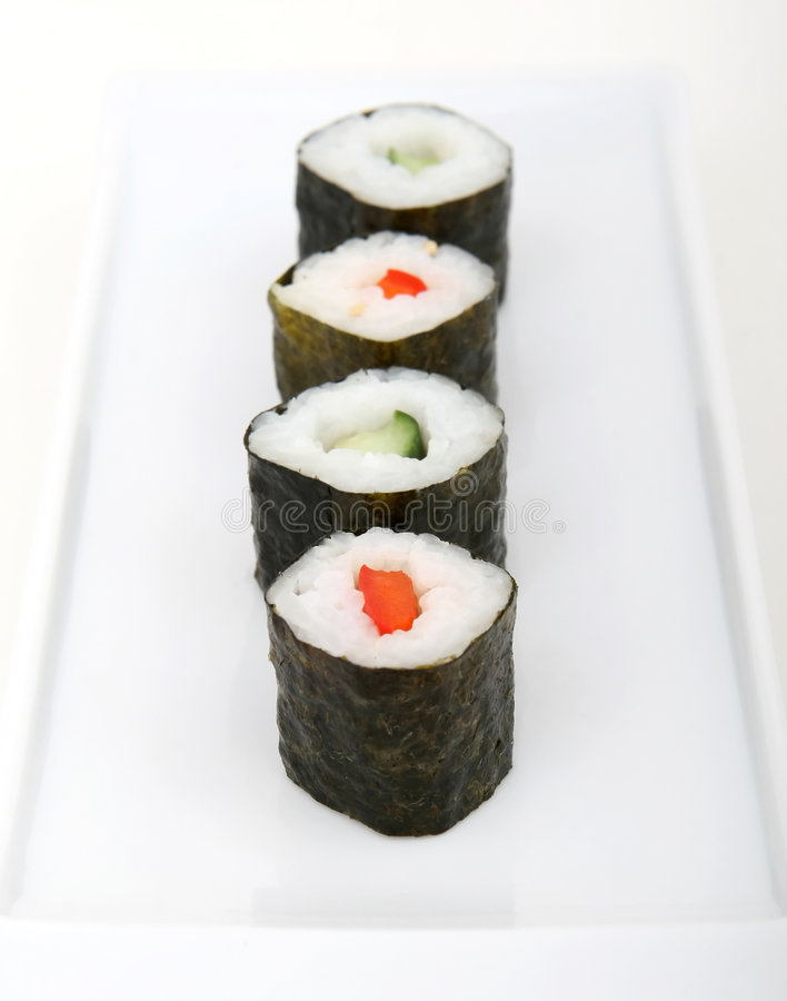 Mariscos japoneses del sushi imagenes de archivo