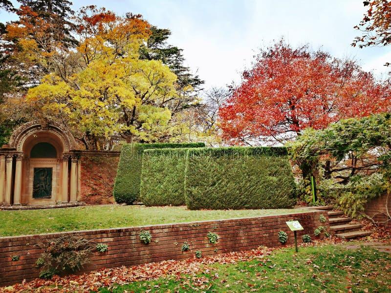 Marismas casa histórica y jardines, Leura, montañas azules, Australia imagen de archivo libre de regalías