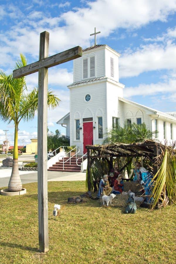 Marismas ciudad, iglesia de la comunidad fotos de archivo libres de regalías