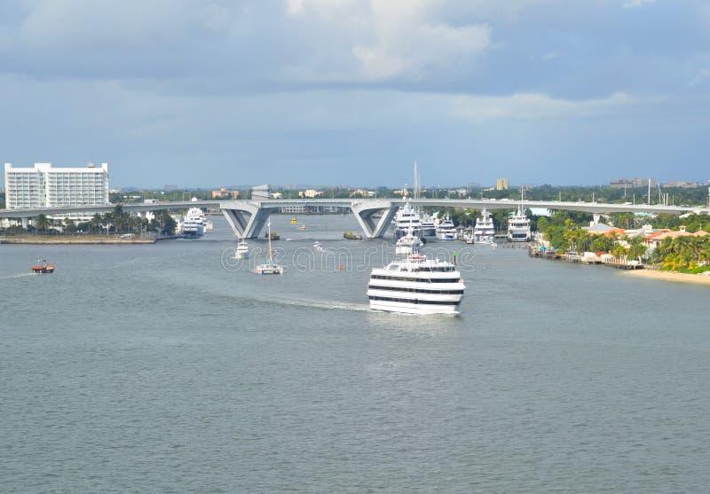 Marismas del puerto en Fort Lauderdale fotos de archivo