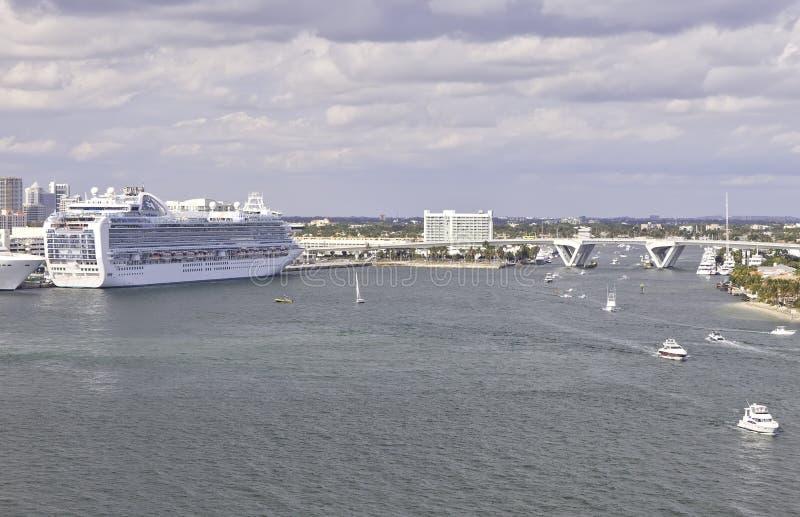 Marismas portuarios en Fort Lauderdale, la Florida imágenes de archivo libres de regalías