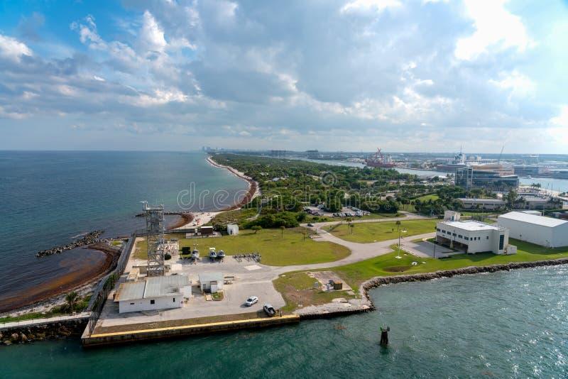 Marismas portuarios, pie Lauderdale, la Florida fotos de archivo libres de regalías