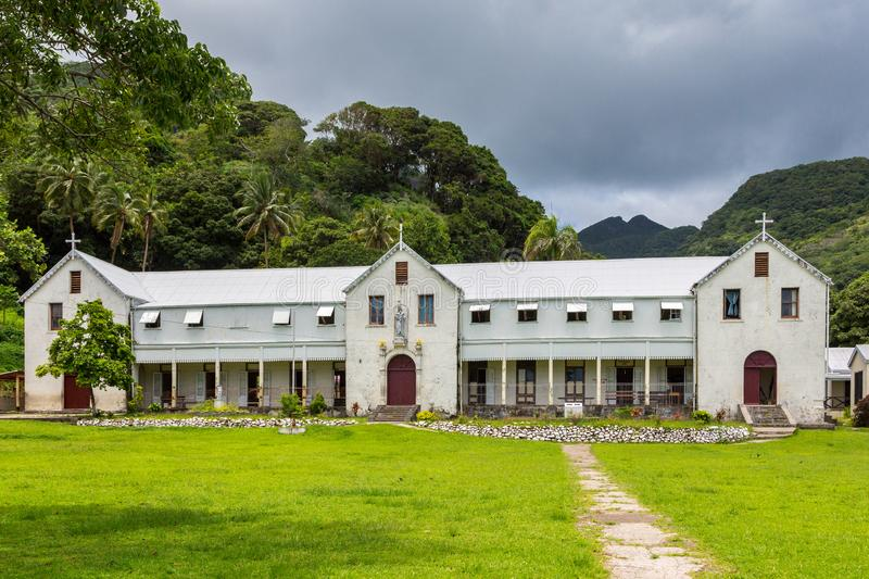 Marist Convent School, a girls school by Catholic missionaries, run by nuns, now a co-ed primary school. Levuka, Ovalau, Fiji. Marist Convent School est. 1882 royalty free stock photos