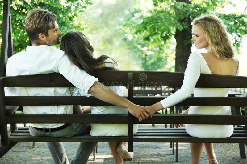 Marital infidelity royalty free stock photos