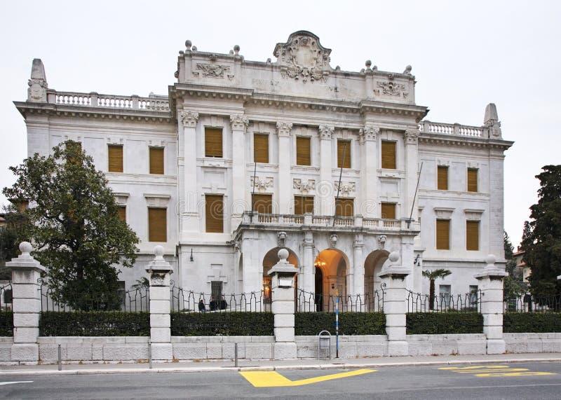 Maritiem en geschiedenismuseum van de Kroatische kuststreek in Rijeka Kroatië stock foto's