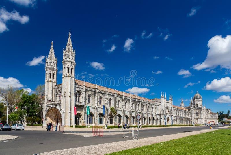 Maritiem Museum en Jeronimos-Klooster in Lissabon stock fotografie