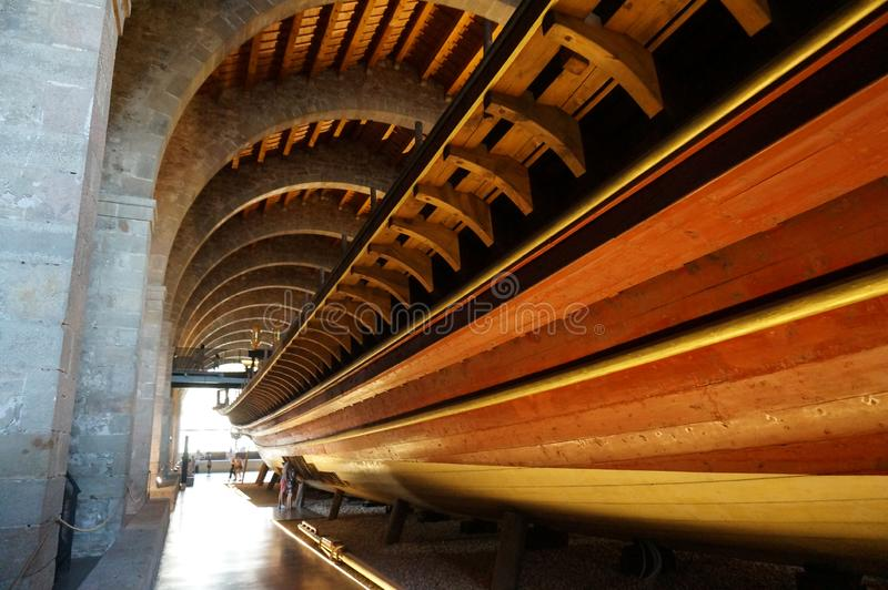Maritiem Museumschip in Barcelona Spanje royalty-vrije stock afbeelding