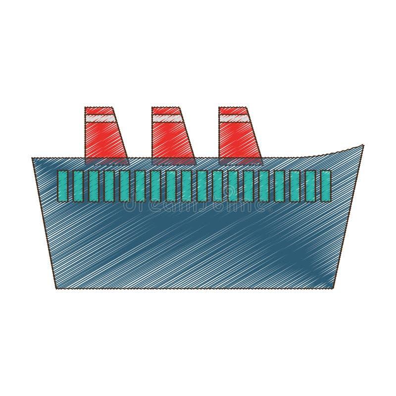 maritieme het schipreis van de tekeningscruise vector illustratie