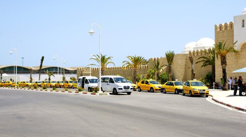 Maritieme post van de haven van La Goulette, Tunesië royalty-vrije stock afbeeldingen