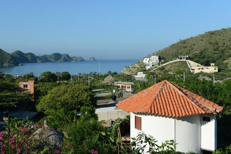 Maritieme stad van Santa Marta. royalty-vrije stock fotografie