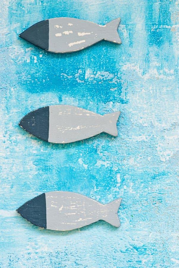Maritieme vissendecoratie stock foto