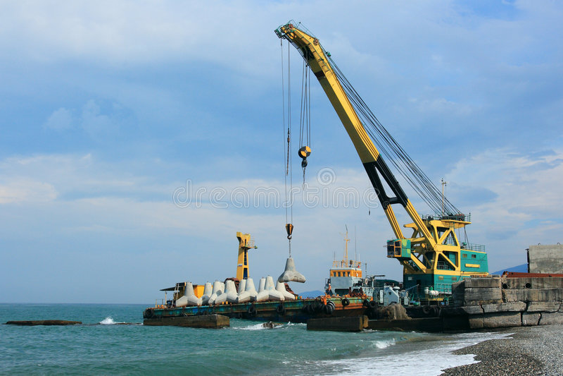 Download Maritime crane stock image. Image of transportation, beach - 6800209