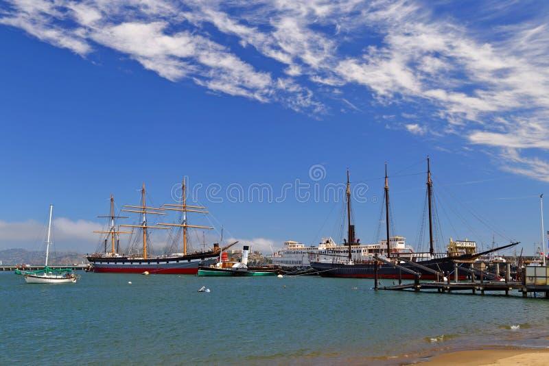 Maritime National Historical Park at Aquatic Park in San Francisco Bay, CA. USA royalty free stock photos