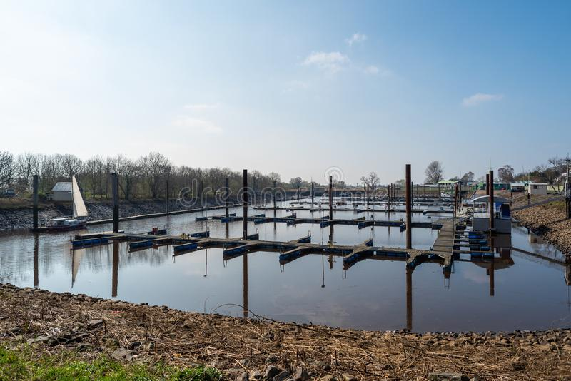 Maritime pictures of bremen nord in germany stock image
