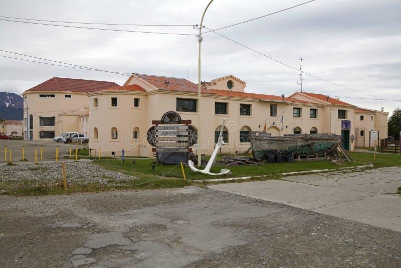 Maritime, Prison and Antarctic Museum in Ushuaia, Argentina. Museo Maritimo y del Presidio de Ushuaia, Argentina. Maritime, Prison and Antarctic Museum is stock image