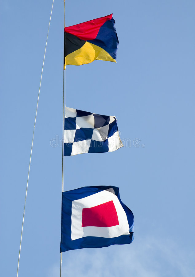 Maritime signal flags stock images