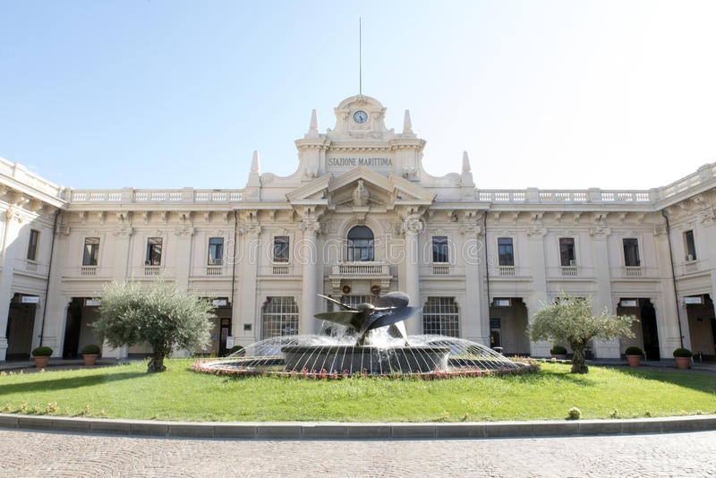The maritime station in Genova, Italy royalty free stock photos