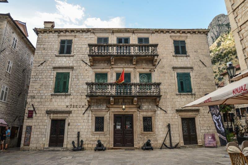 Maritimt museum av Montenegro royaltyfria foton