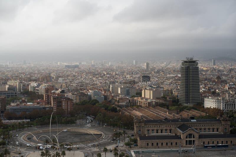 Maritimt museum för flyg- sikt i Barcelona royaltyfri fotografi