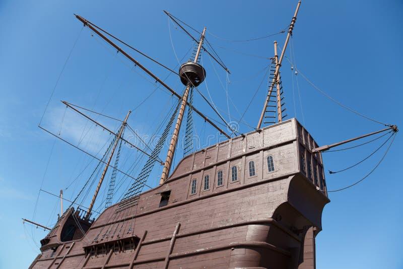 Maritimt museum i form av ett skepp i Malacca arkivbilder