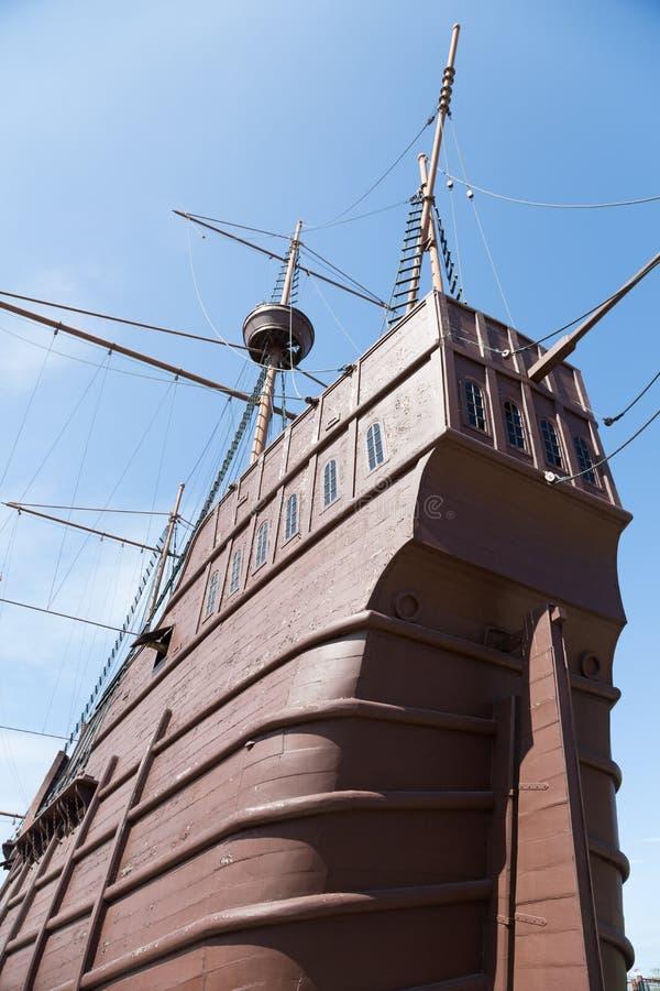 Maritimt museum i form av ett skepp i Malacca royaltyfri fotografi