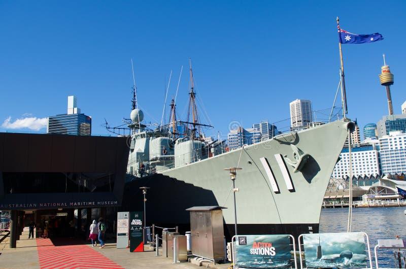 Maritimt museum, Sydney royaltyfria bilder
