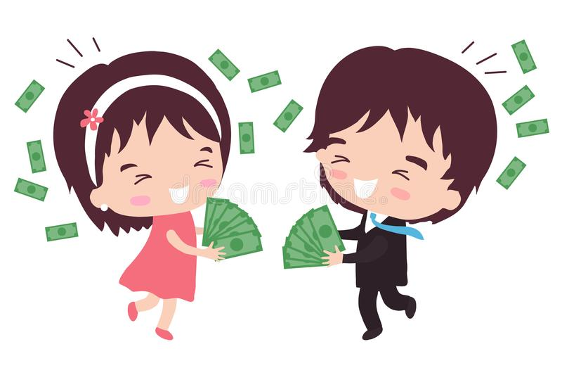Marito caro ricco royalty illustrazione gratis