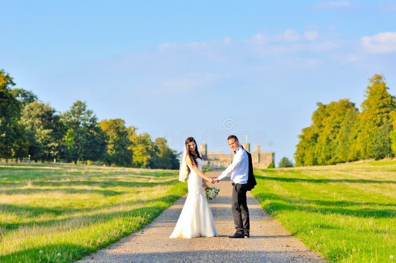 Marito e moglie al palazzo fotografia stock