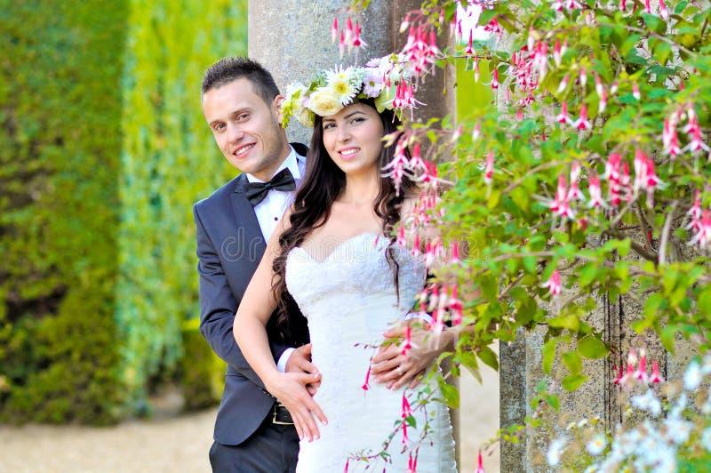 Marito e moglie al palazzo immagini stock