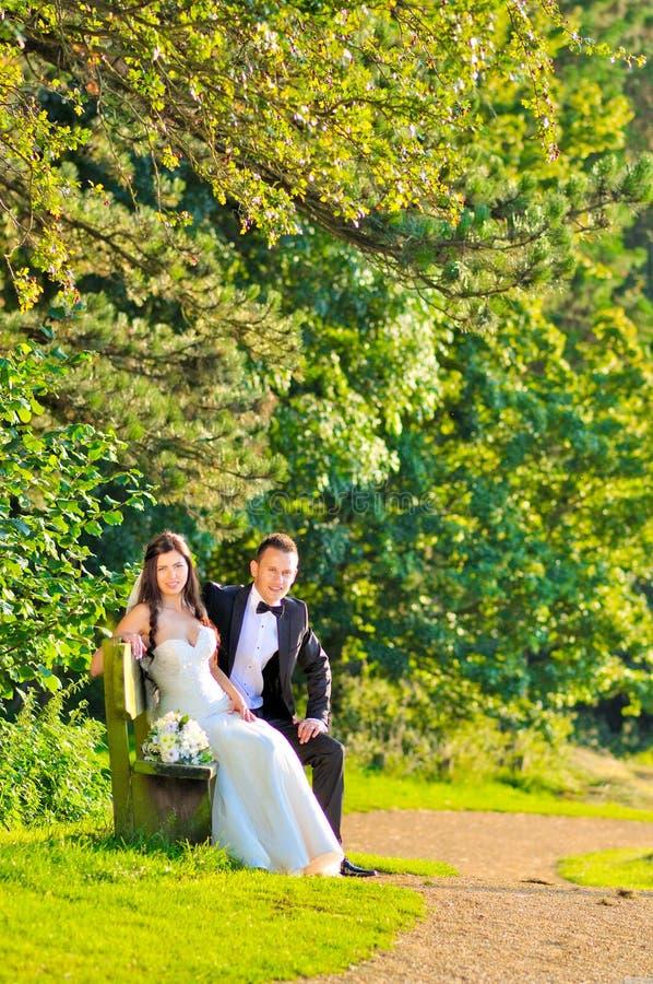 Marito e moglie al palazzo fotografia stock libera da diritti