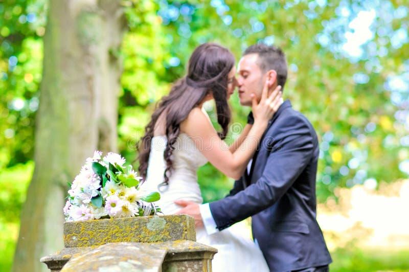 Marito e moglie al palazzo immagini stock libere da diritti