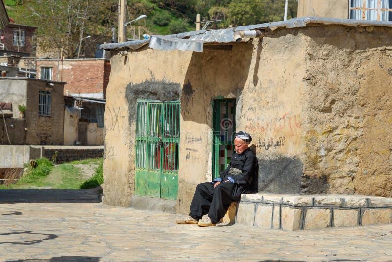 Kurdish man in Darreh Tafi village near Zarivar lake, Marivan, Iran royalty free stock photos