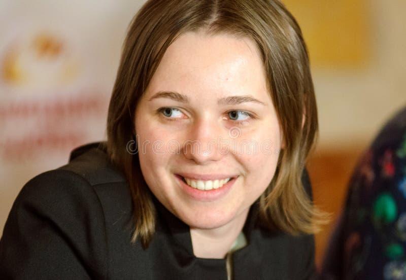 Mariya Muzychuk är en ukrainsk schackspelare royaltyfria foton
