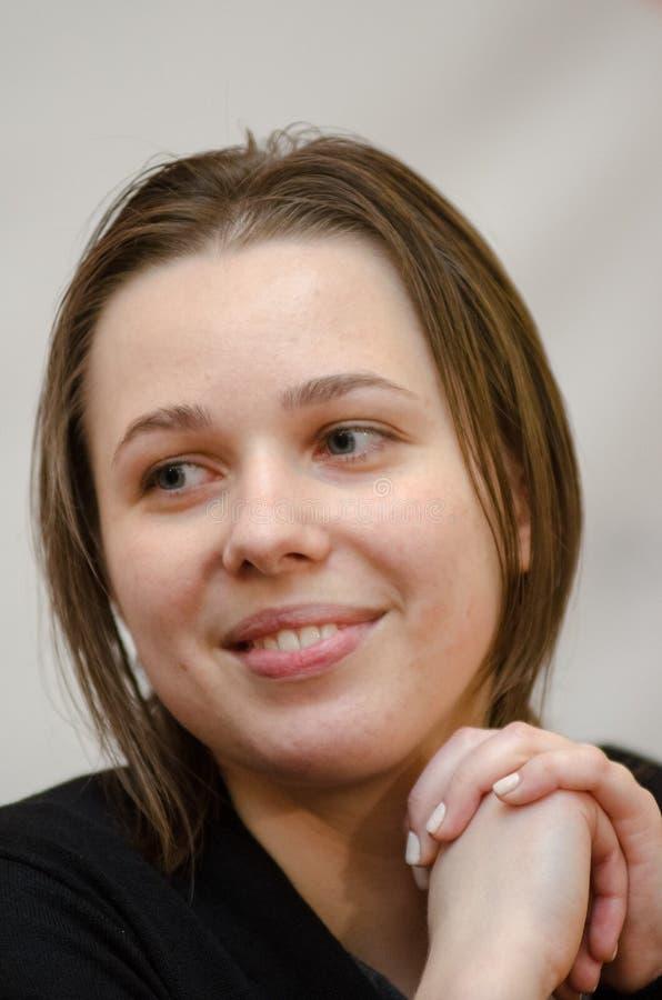 Mariya Muzychuk är en ukrainsk schackspelare fotografering för bildbyråer
