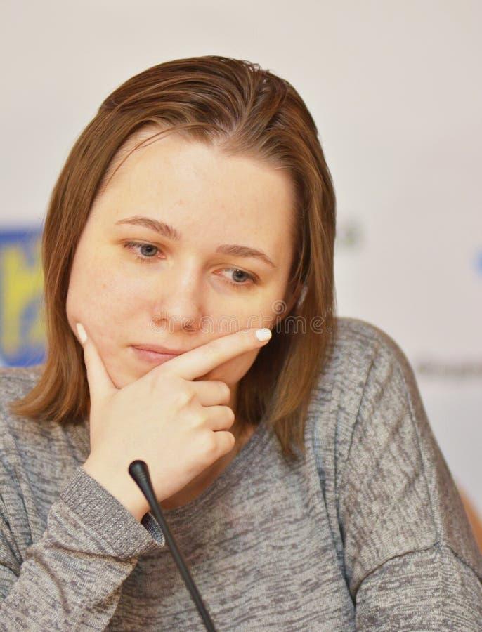Mariya Muzychuk är en ukrainsk schackspelare arkivfoto