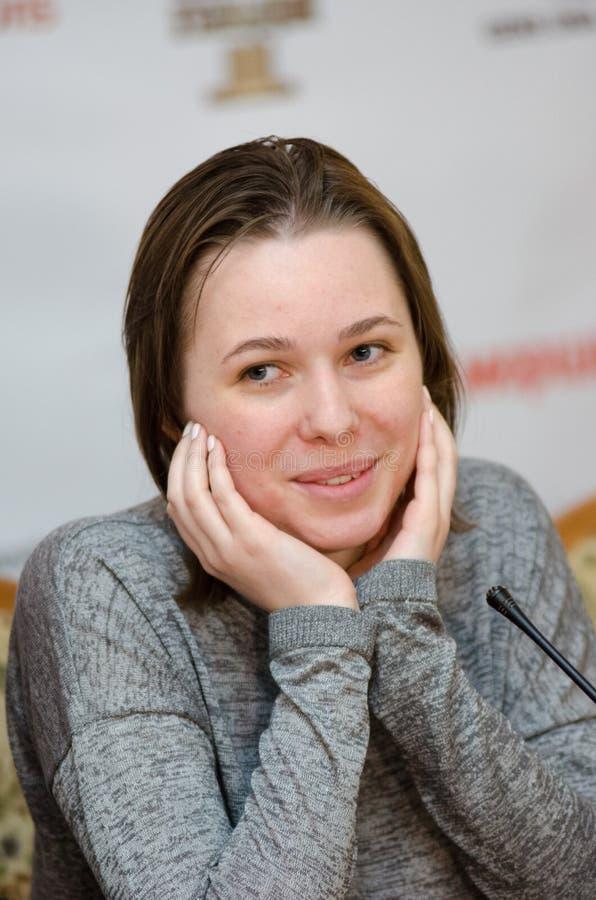 Mariya Muzychuk är en ukrainsk schackspelare arkivbilder