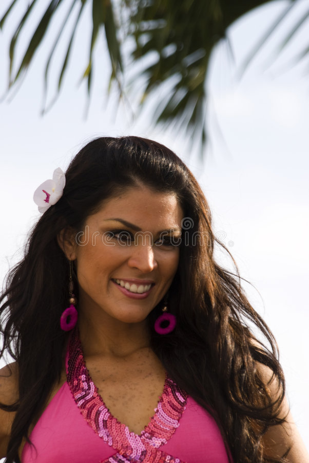 Marjorie cevallos contestant beauty contest royalty free stock photography