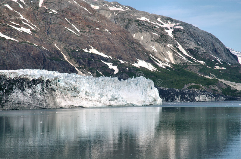 Marjorie Gletscher in Alaska lizenzfreie stockfotos