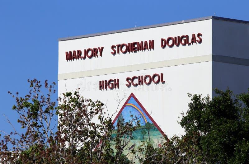 Marjory Stoneman Douglas szkoły średniej Parkland strzelanina zdjęcia royalty free