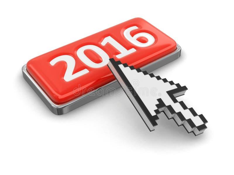 Markör och knapp 2016 stock illustrationer