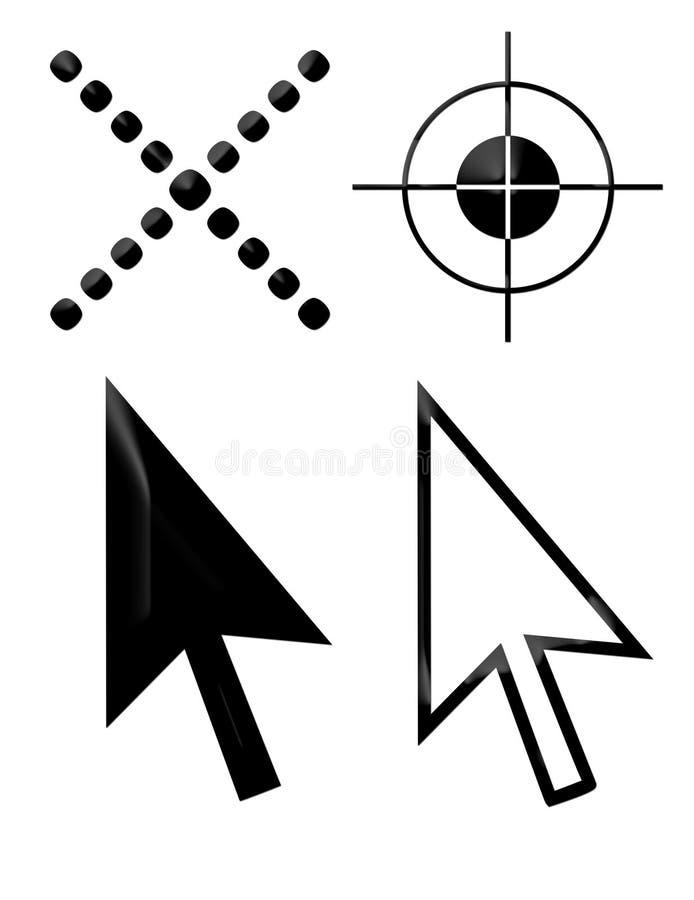 markörsymboler royaltyfri illustrationer