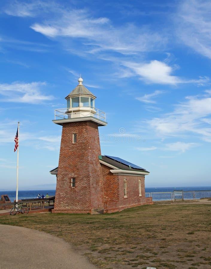 Mark Abbott Memorial Lighthouse in Santa Cruz, CA royalty-vrije stock afbeelding