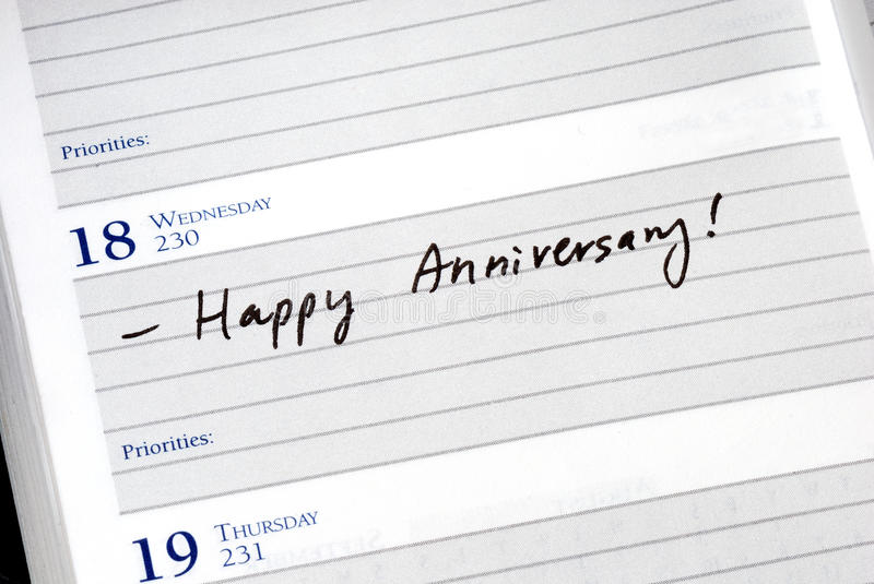 Download Mark the anniversary stock image. Image of pencil, event - 15091653