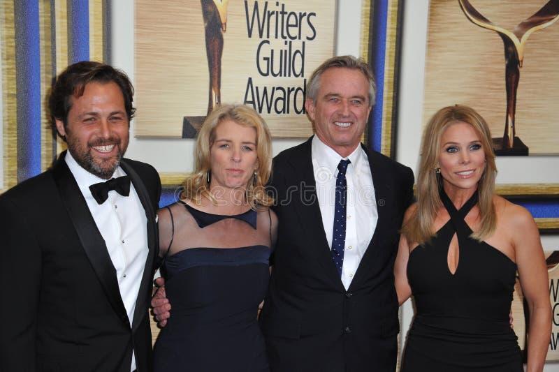 Mark Bailey & Rory Kennedy & Robert F Kennedy Jr & Cheryl Hines royalty-vrije stock afbeelding
