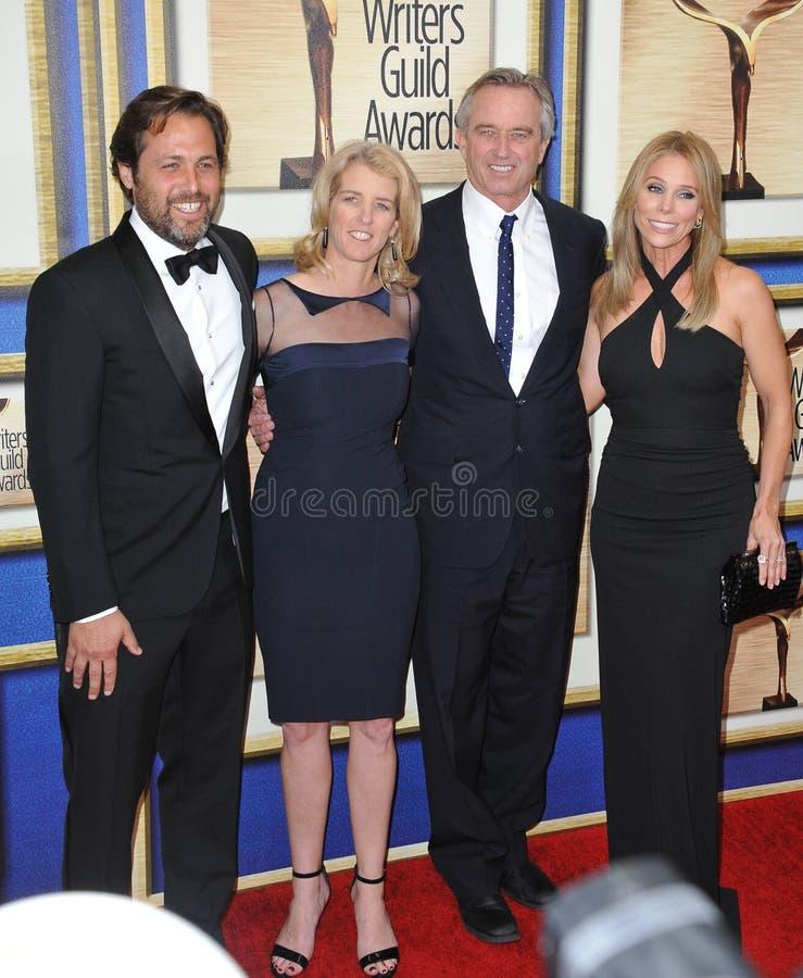 Mark Bailey & Rory Kennedy & Robert F Kennedy Jr & Cheryl Hines stock afbeelding