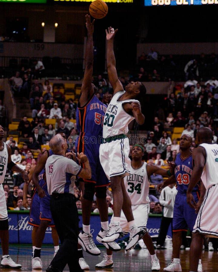 Mark Blount, Boston Celtics concentrare immagine stock libera da diritti